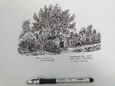 QUICK IMAGINARY ART WITH GEL INK PEN