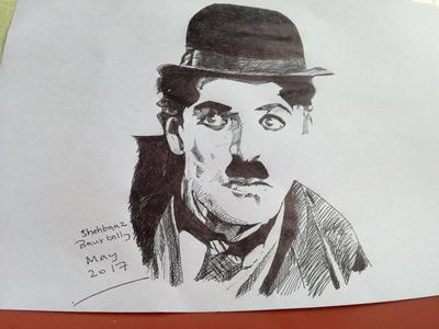 RAPID DRAWING OF CHARLIE CHAPLIN