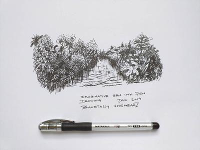 RAPID IMAGINARY ART WITH GEL INK PEN