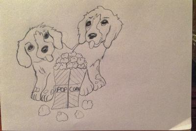 puppy drawing