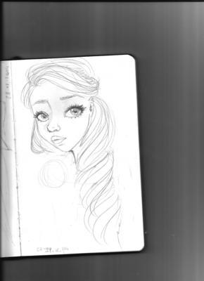 semi realistic sketch