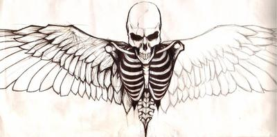 Skeleton w/ wings