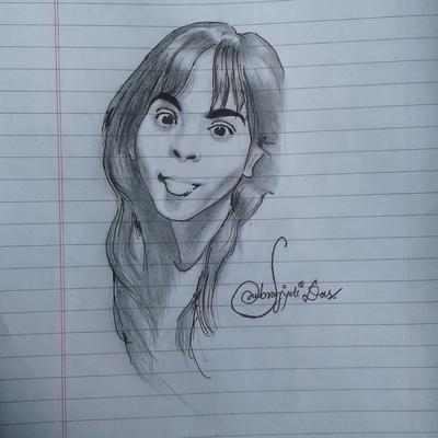 sketch of a crazy girl by subrojyoti das