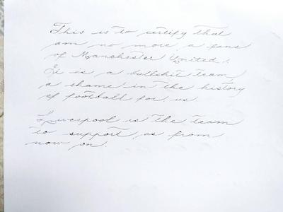 Spencerian without thickness