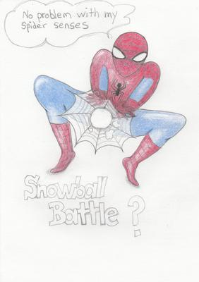 Spiderman vs. snowball
