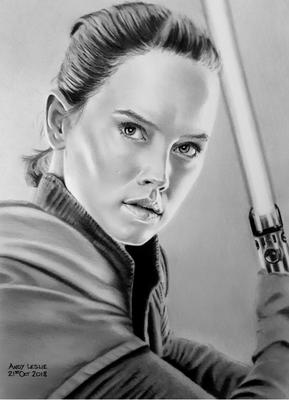 Star Wars Daisy Ridley Drawing