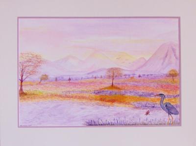 Herron By a Highland River at Dawn