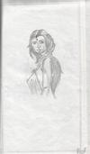 portrait sketch of a woman
