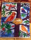 colourful  birds  and  nests