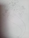 pencil sketch of cartoon characters
