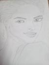 Pencil sketch of Sonam kapoor