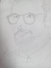 Pencil sketch of Hritikroshan sir