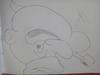 Pencil sketch of cartoon character (Popeye)
