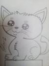 Pencil sketch of baby animals
