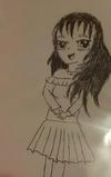 Messy anime girl