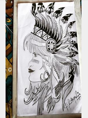 Art Tribal People Drawing