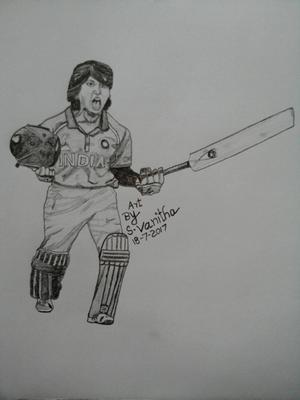 Indian women cricketer Punam Raut