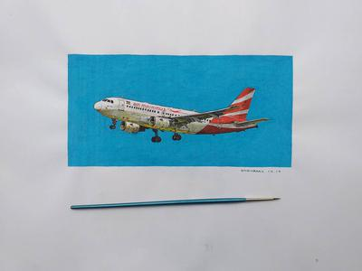 Watercolor art: Air Mauritius