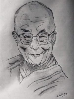 Buddhist monk dalai lama