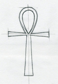 how to draw a simple cross