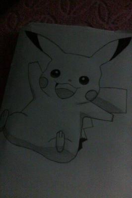 Drawing of Pikachu