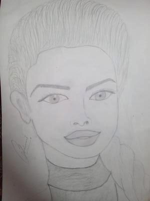 Priyanka chopda pencil sketch