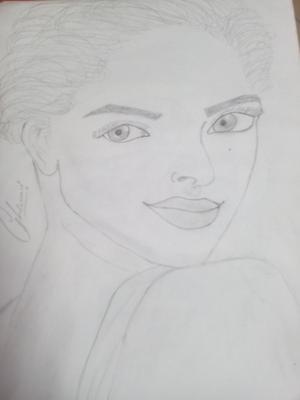 Pencil sketch of Sonam kapoor