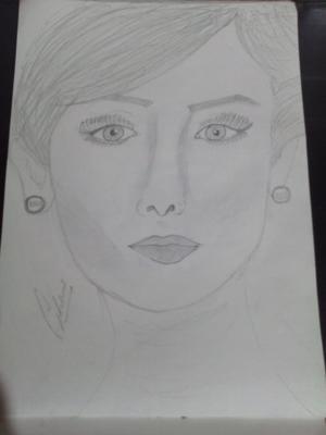 Easy pencil sketch of Bollywood star