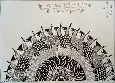 Half page Mandala Art