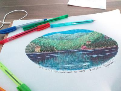 IMAGINARY AND WITH COLORED BALLPENS