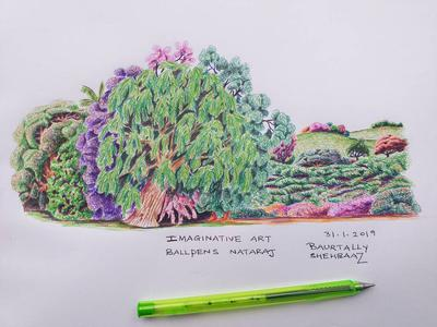 Imaginary art with colored ball pens1