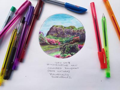 IMAGINARY VIEW WITH BALLPENS1