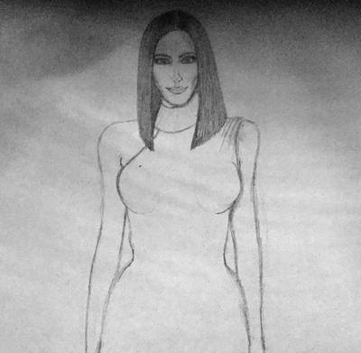 Kim kardashian drawing
