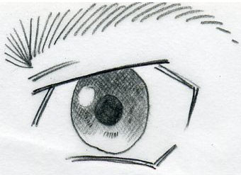 Manga eyes are easy to draw comparing to the first drawing this looks more like males eye it radiates out maybe a bit of anger and that is why the shape is rather angular ccuart Gallery