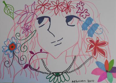 Manga flower girl