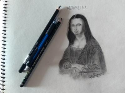 monalisa -charcoal drawing