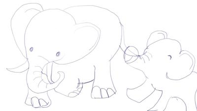 My First Drawing of Elephant