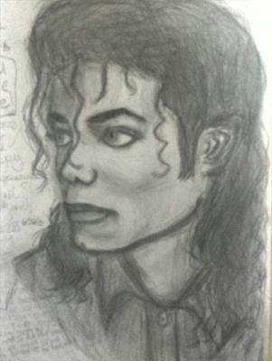 My Michael Jackson Drawing portrait