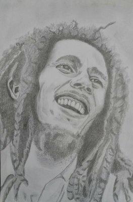 Bob Marley drawing