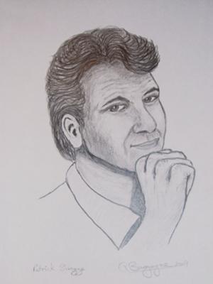 Patrick Swayze in pencil
