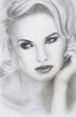 Pencil drawing girl01