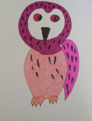 Perusia the pink owl