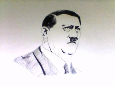 RAPID DRAWING OF HITLER