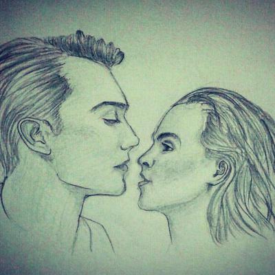 Romantic couple sketch