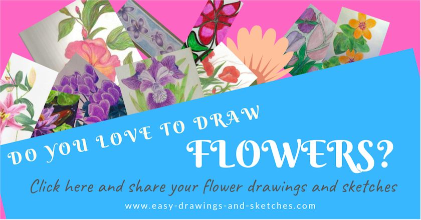 How To Draw Flowers Easily
