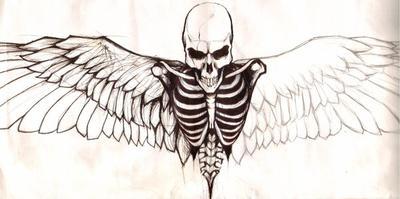 Skeleton w/ wings