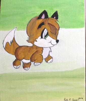 cartoon picture of a fox